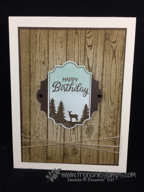 Merry Little Label, Masculine Monday, Hardwood, Beautiful Bouquet, Stampin'Up!, Frenchie stamps,