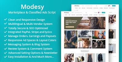 Modesy v1.4.1 - Marketplace & Classified Ads Script Nulled