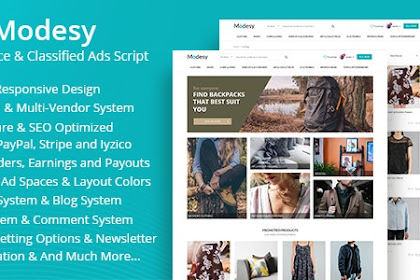 Download Modesy v1.4.1 - Marketplace & Classified Ads Script Nulled