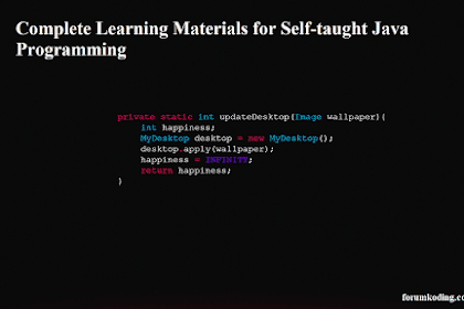 Complete Learning Materials for Self-taught Java Programming