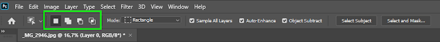 Selection options for Object Selection Tool in Photoshop