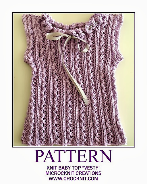free knit patterns, vest, baby, newborn, sleeveless top,