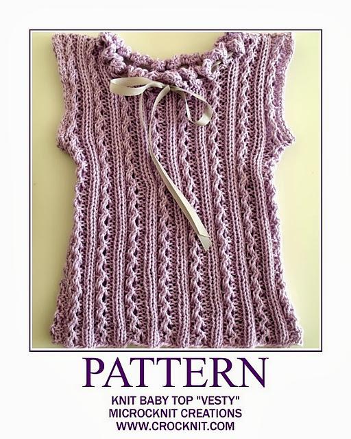 free knit patterns, vest, baby, newborn, sleeveless top,