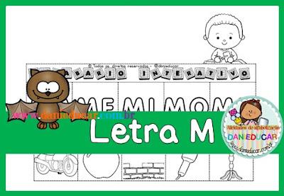 Letra M, alfabetização, silabas, para imprimir, PDF, Atividades de 1º ano,