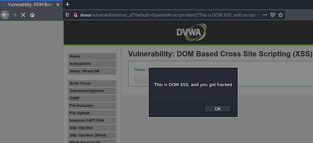 alert for dom-based XSS