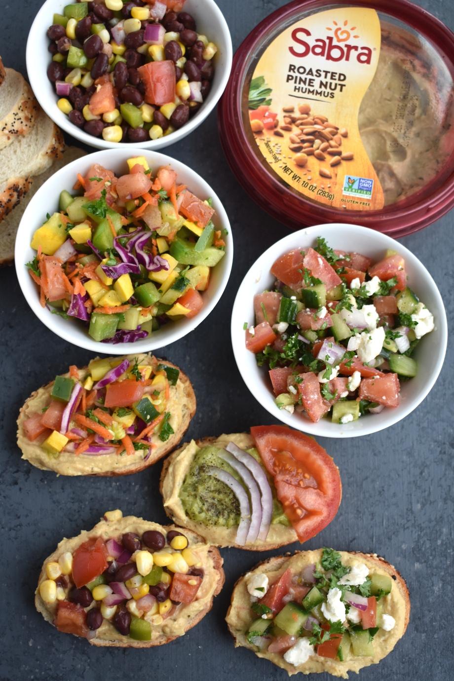 Sabra Hummus Toast 4 ways