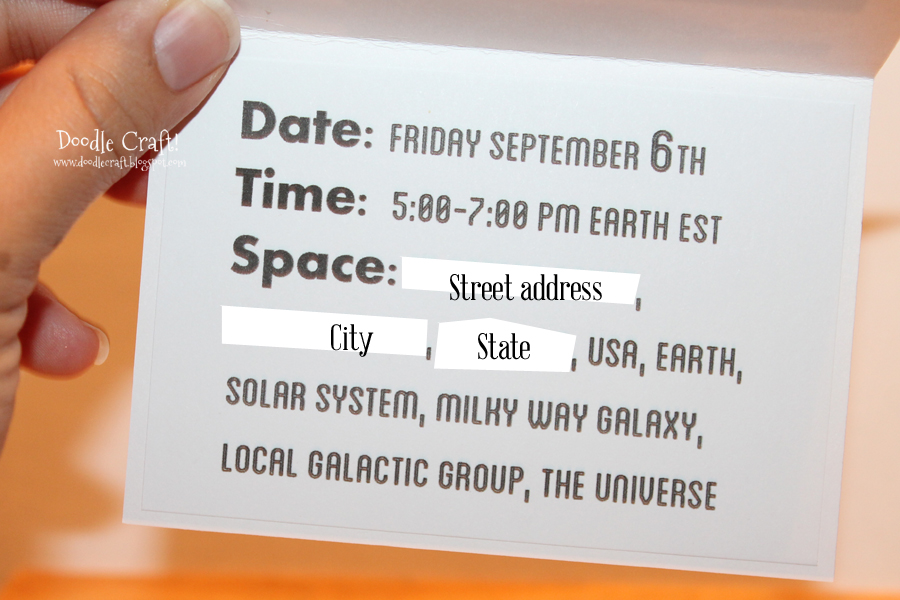 Doodlecraft: Doctor Who Party Week: Invitations and Decorations