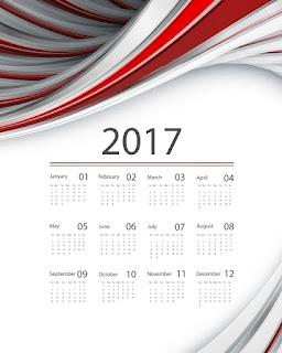 2017カレンダー無料テンプレート192