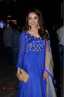 Telugu Actress Tejaswi Madivada Pos in Blue Long Dress at Nanna Nenu Na Boyfriends Audio Launch  0083.JPG
