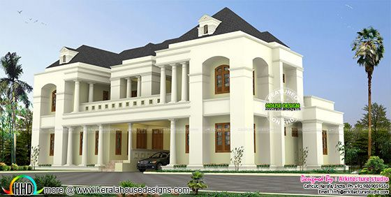 Luxury Colonial style Indian home design