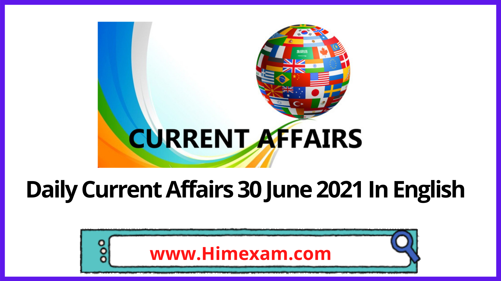 Daily Current Affairs 30 June 2021 In English