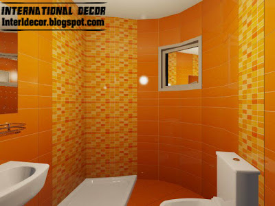 orange bathroom decorating ideas 3d tiles styles for small bathroom style tips colors 21145
