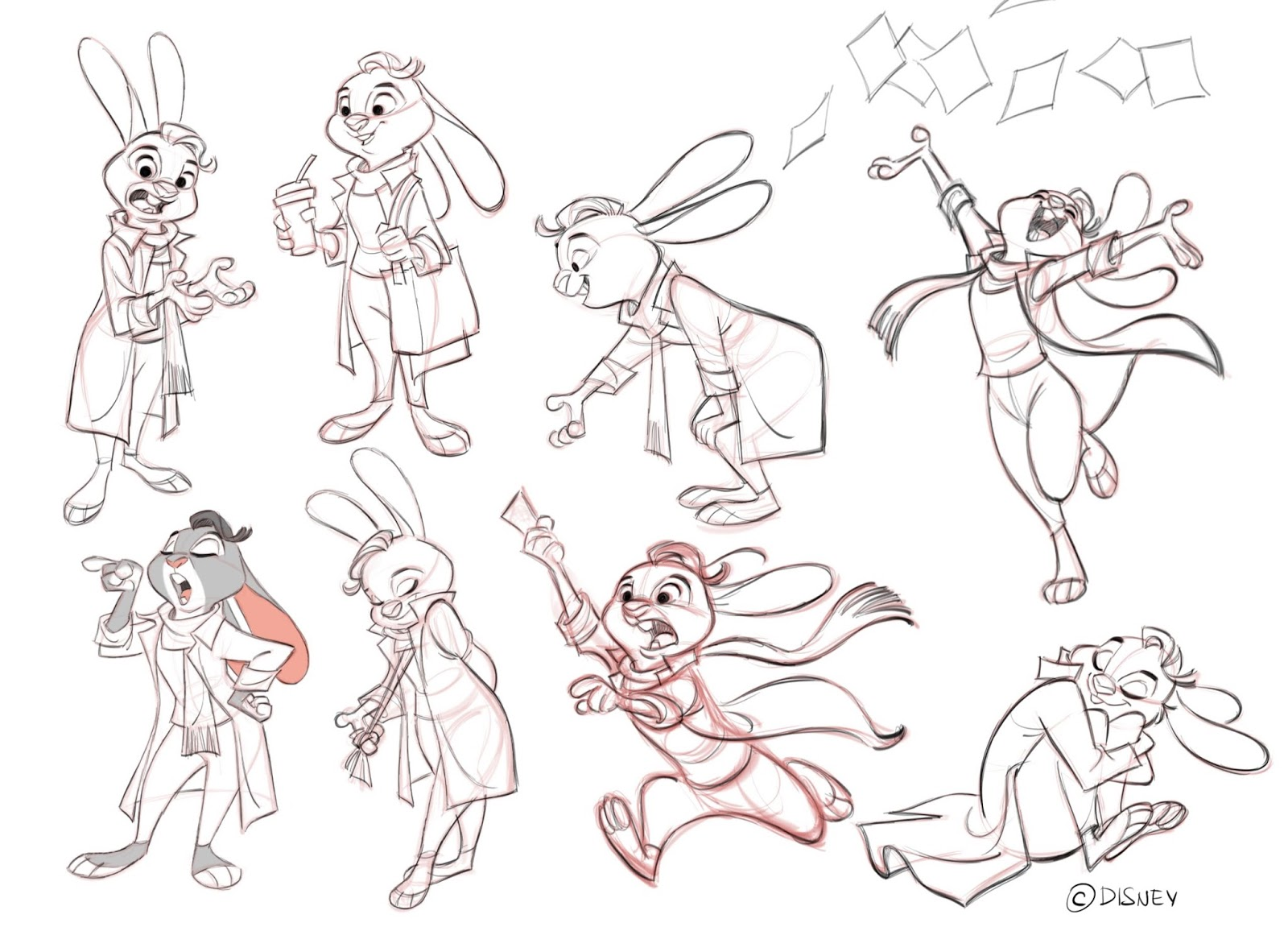 Disney Character Design Artists : Cool art poses from borja montoro by zootopiafanart on