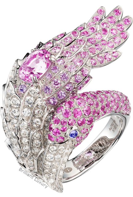 Brilliant Luxury♦Boucheron Paris Flamingo pink sapphire ring
