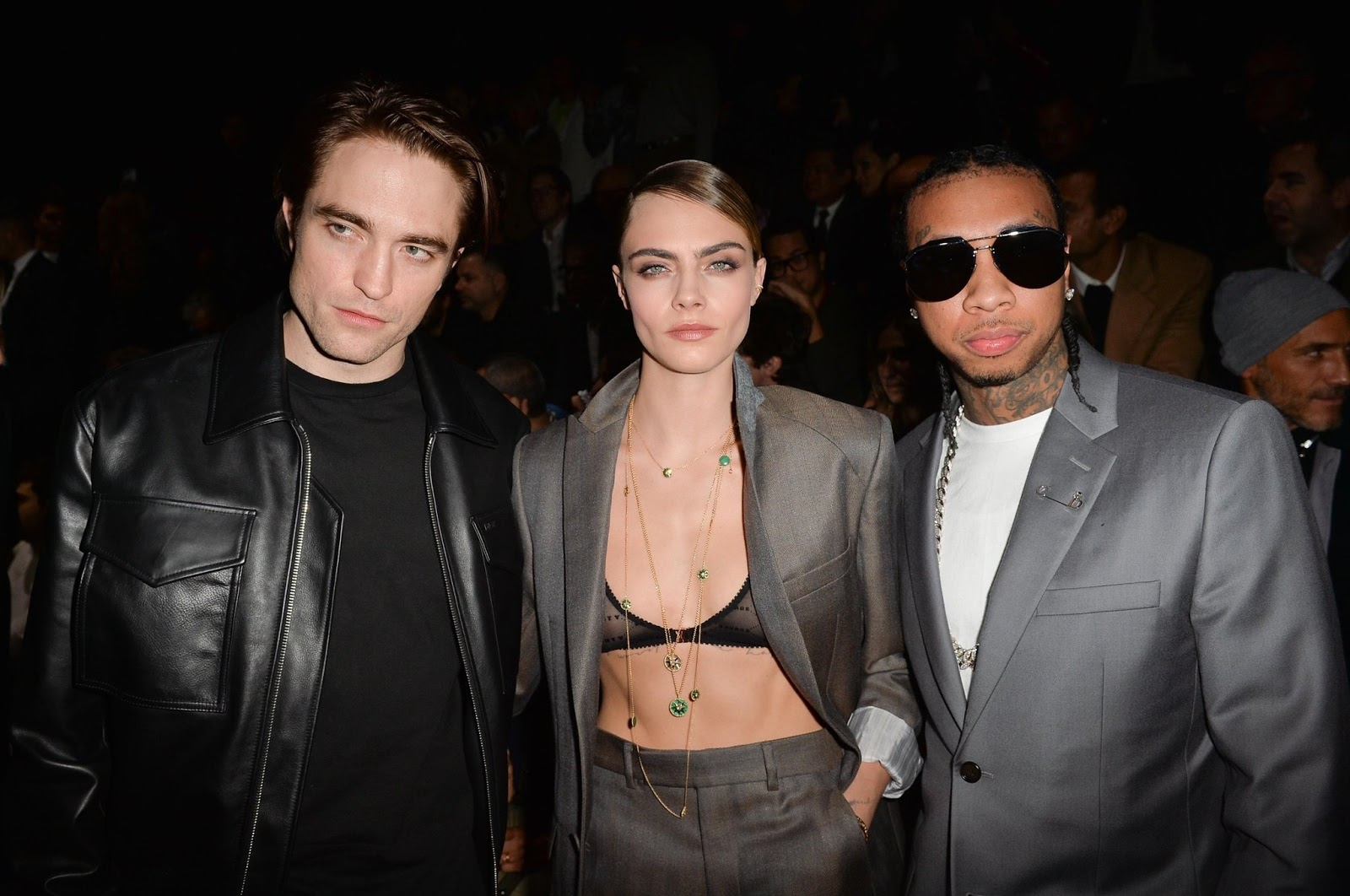 Robert Pattinson, Tyga and Cara Delevingne at the Dior Homme Menswear Fall Winter 2020