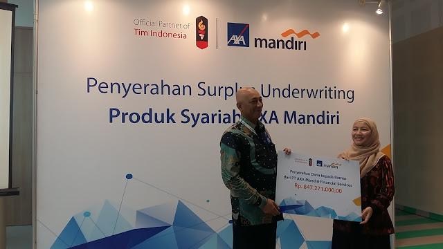 Penyerahan Surplus Underwriting Produk Syariah AXA Mandiri