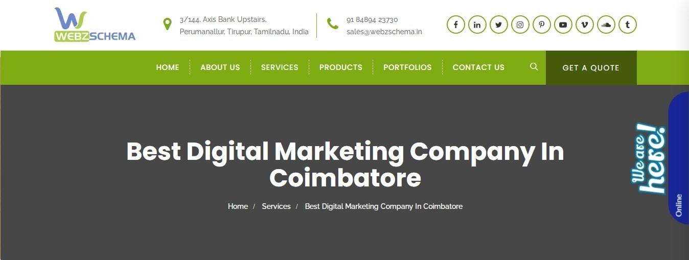 Webzschema - Digital Marketing Company