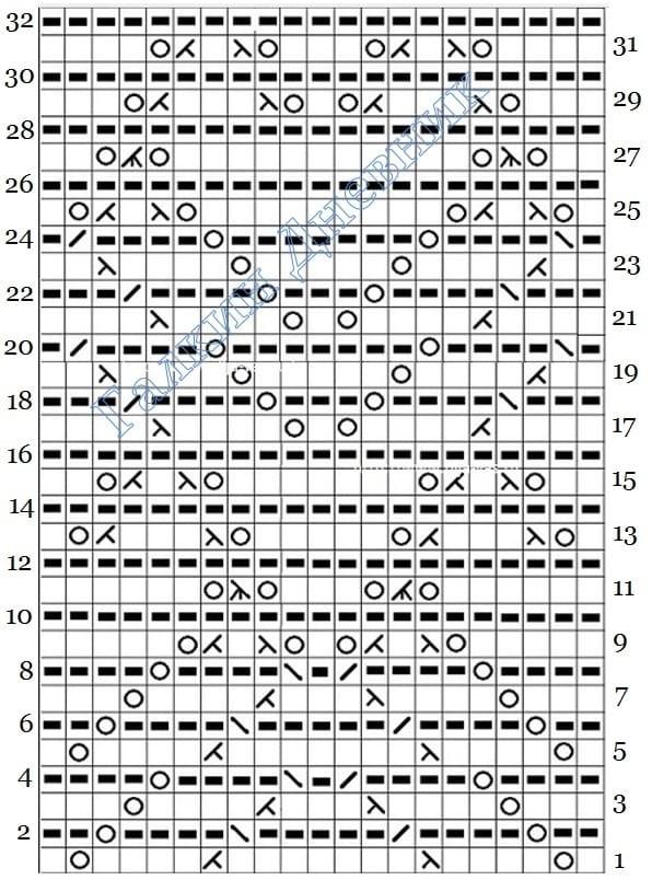 vyazanie spicami ajurnogo uzora 31 shema