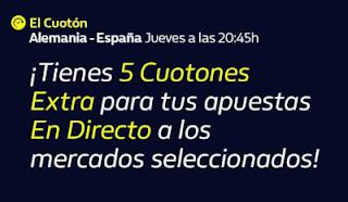 william hill El Cuotón Extra En Directo Alemania vs España 3-9-2020