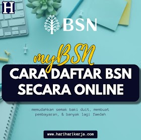 myBSN : Cara Daftar BSN Secara Online mudah semak duit & buat pembayaran
