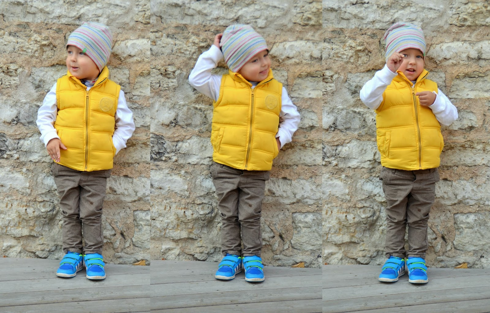 toddler-yellow-vest-blue-sneakers