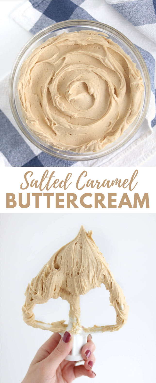 Salted Caramel Buttercream Recipe #dessert #cake