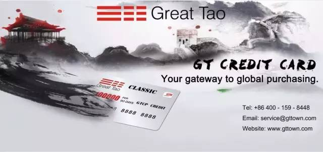 GT credit card, purchasing global
