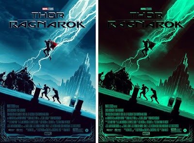 New York Comic Con 2018 Exclusive Thor: Ragnarok Movie Poster Glow in the Dark Screen Print by Matt Ferguson x Grey Matter Art x Marvel