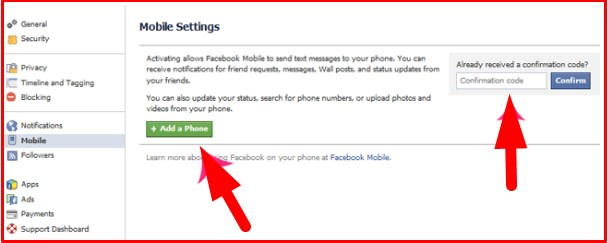 facebook mobile login with phone number
