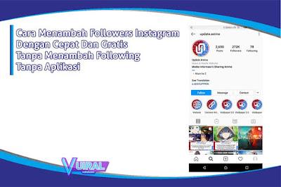 Cara Menambah Followers Instagram Dengan Cepat Dan Gratis