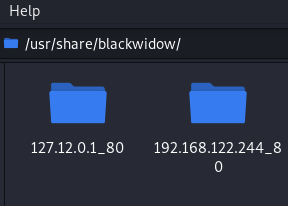 Blackwidow saved output