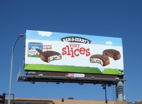 Ben Jerrys pint slices billboard