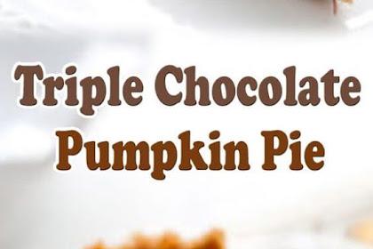 Delicious Triple Chocolate Pumpkin Pie #chocolate #pumpkin #pie #desserts #pumpkinpie