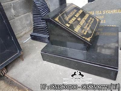 Batu Nisan Kuburan Granit, Model Batu Nisan Terbaru, Batu Nisan Granit Hitam