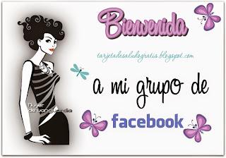 tarjeta de bienvenida para facebook