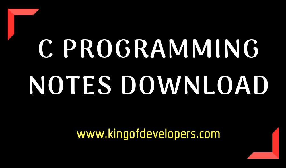 C Programming Hand Written Notes Download