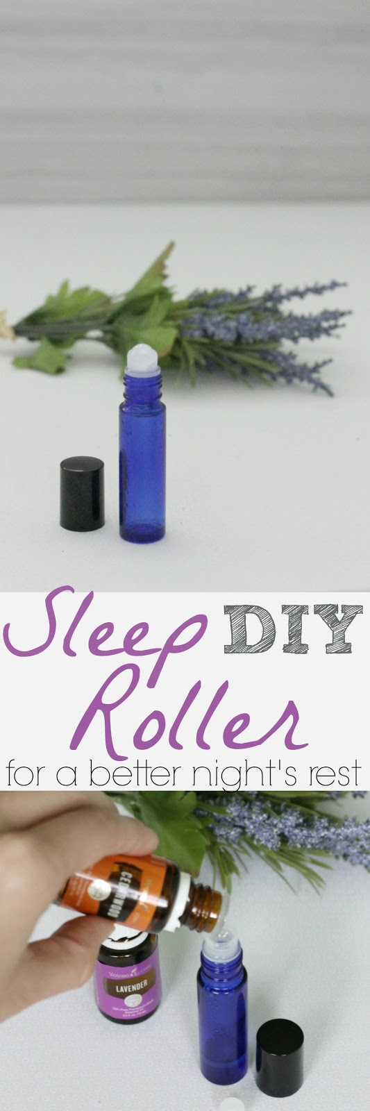 DIY sleep roller with magnesium and essential oils to help you sleep better