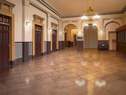anime elegant hall landscape