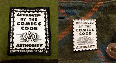 San Diego Comic-Con 2016 Exclusive The Comics Code Seal Patch & Enamel Pin by The Comic Book Legal Defense Fund