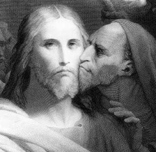 Jesus recebe de Judas o beijo da traição
