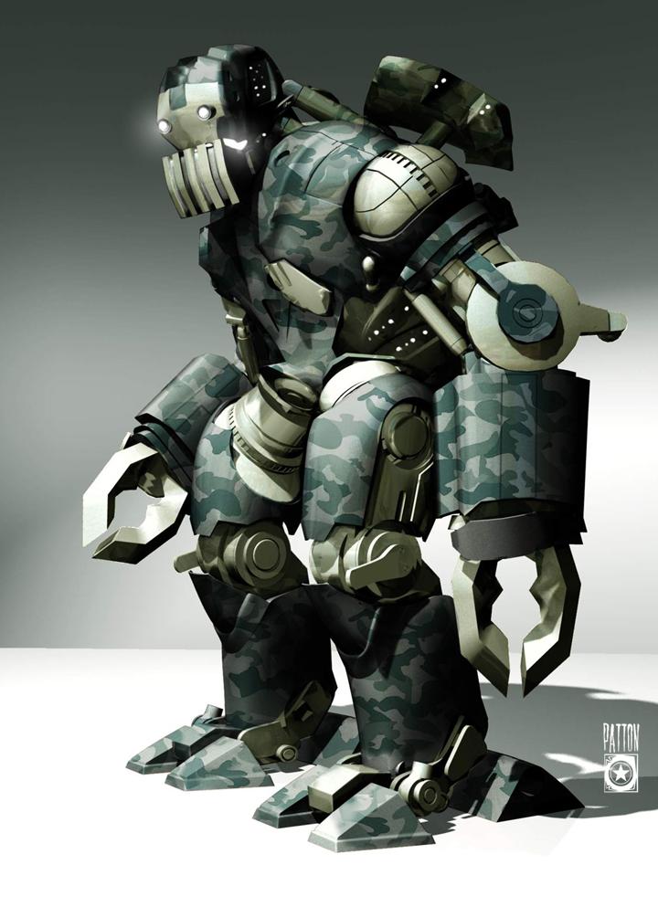 Iron Man 2: IRON MAN 2 Concept Art: Unused International Robots