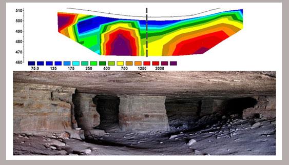 صورة كهف تحت الارض تم تصويره بجهاز اوم ماجيك