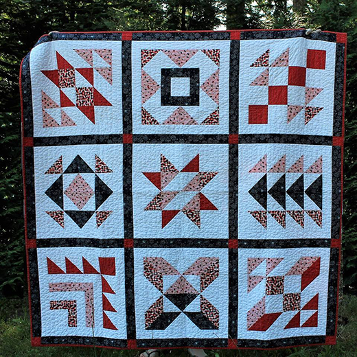 Snowy Day Quilt Free Pattern designed by Andrea Smith of Happy Cloud Creations
