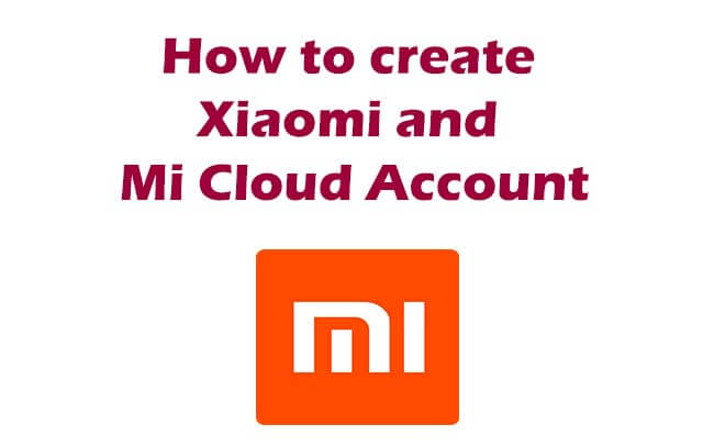 Xiaomi and Mi cloud account