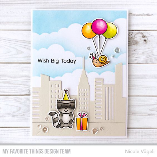 Handmade card by Nicole Vögeli featuring products from My Favorite Things #mftstamps