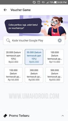 Harga Voucher Google Play Murah di Bukalapak