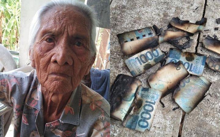 Grandmother accidentally burns life savings worth P14k
