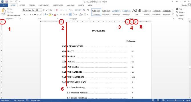 Cara Membuat Daftar Isi Ms Word Otomatis