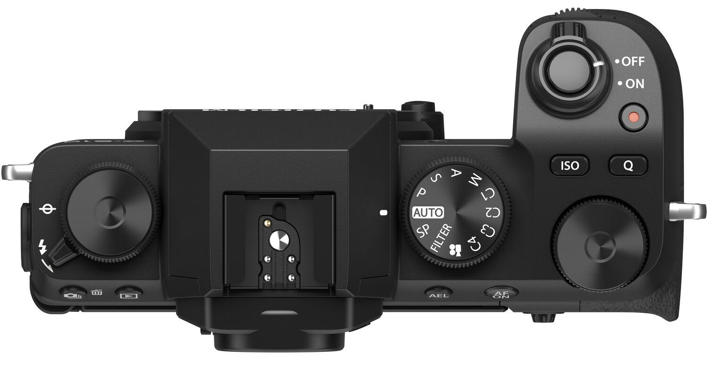 Fujifilm X-S10, вид сверху