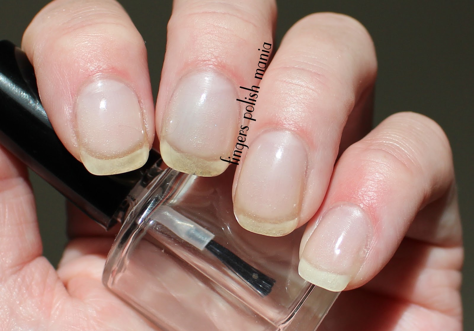 fingers polish mania: EZ Dip Gel Nails Clear Version